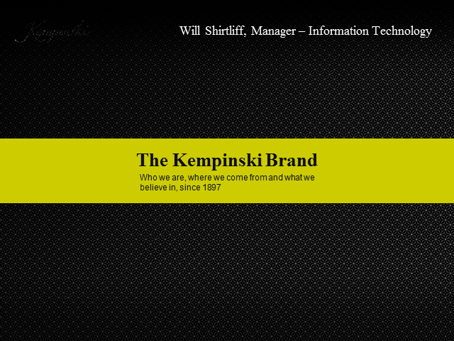 Delivering First Class IT Service Management at Kempinski Hotels