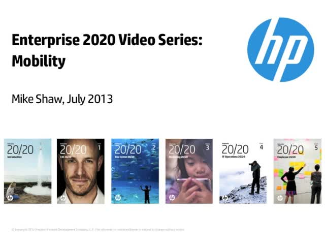 Enterprise 2020 Video Series: Mobility