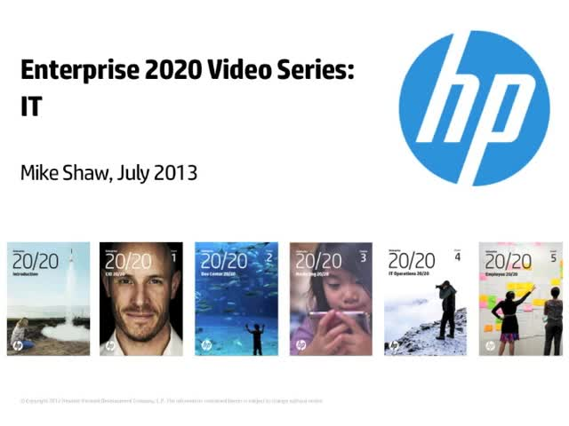 Enterprise 2020 Video Series: IT