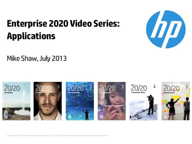 Enterprise 2020 Video Series: Applications