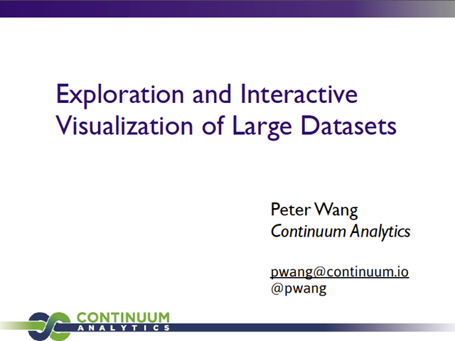 Data Exploration and Interactive Visualization