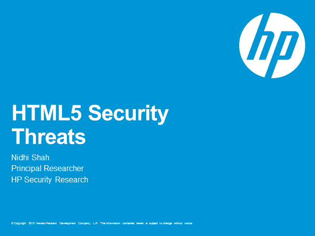 HTML5 Security Threats
