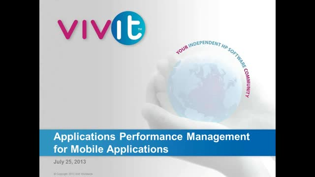 Applications Performance Management for Mobile Applications
