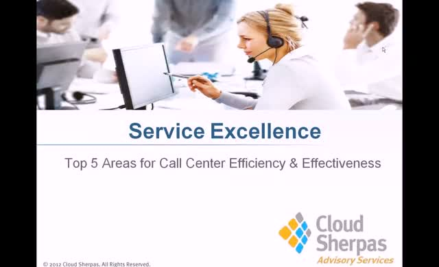TOP 5 AREAS FOR CALL CENTER EFFICIENCY AND EFFECTIVENESS