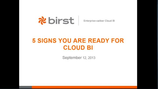 5 Signs You Need the Cloud for BI and Big Data