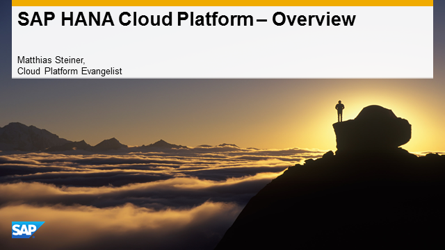 Getting Started with SAP HANA Cloud Platform