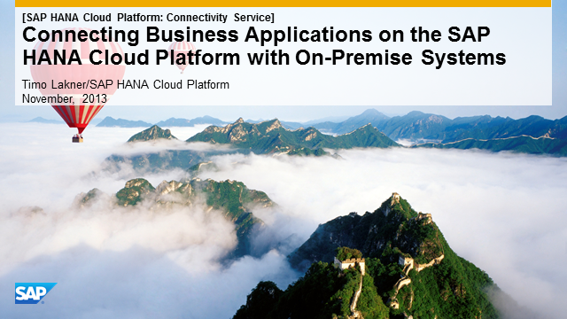 Integrate Your Applications with SAP HANA Cloud Platform