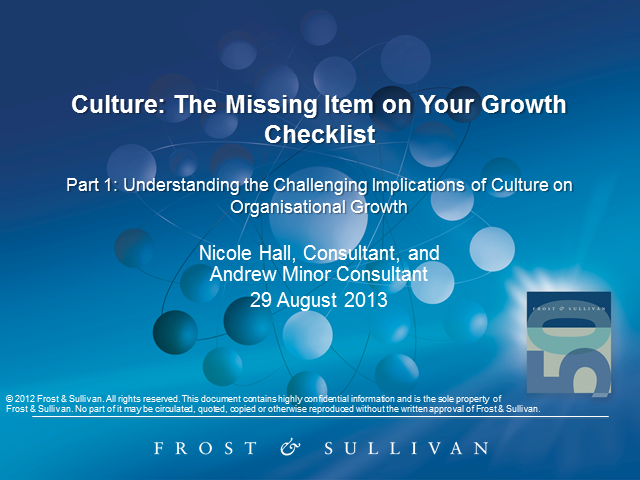 Culture: The Missing Item on Your Growth Checklist