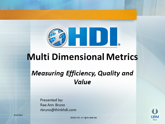 Multi-Dimensional Metrics – Measuring Efficiency, Quality, and Value