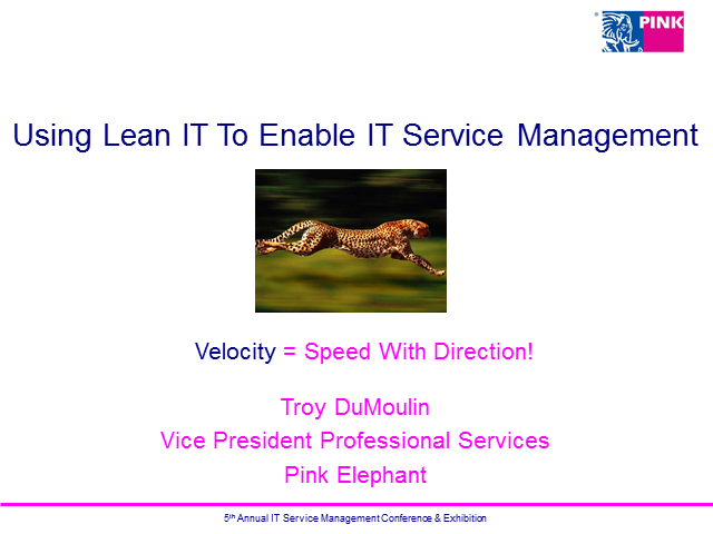 Using Lean IT To Enable IT Service Management