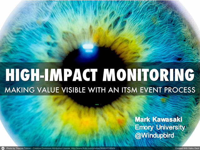 High-Impact Monitoring: Making Value Visible With an ITSM Event Process