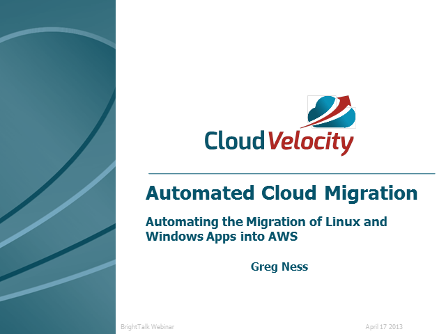 Automated Cloud Migration: Migrating Linux and Windows Apps into AWS