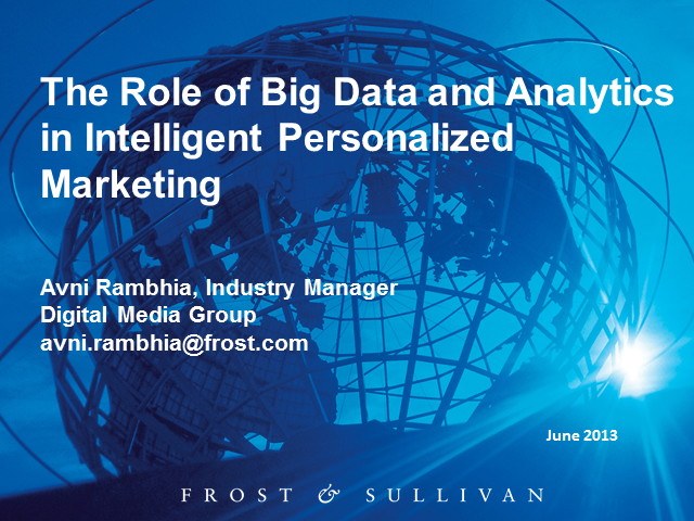 The Role of Big Data and Analytics in Intelligent Personalized Marketing