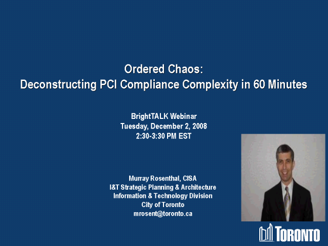 Ordered Chaos: Deconstructing PCI Compliance Complexity in 60 Min