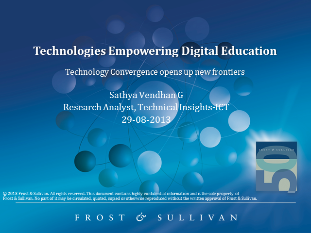 Technologies for Digital Education