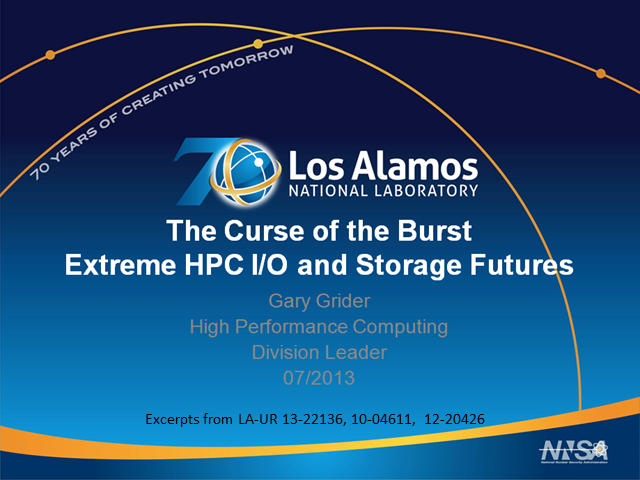 The Curse of the Burst - Extreme HPC I/O and Storage Futures