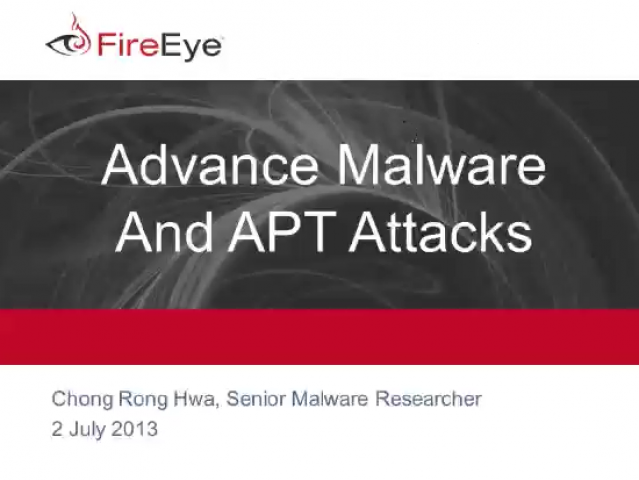 An In-Depth Study on Advanced Malware and APT Attacks