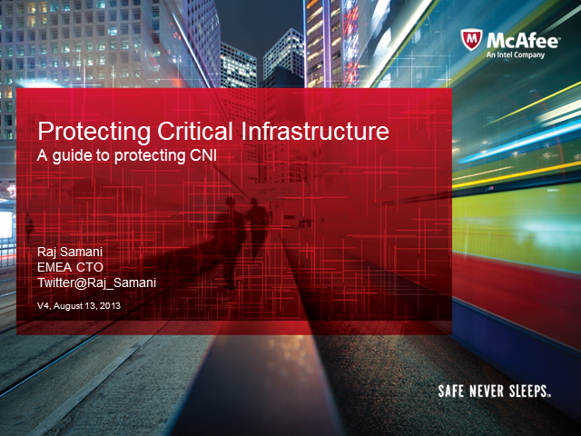 A Guide to Securing Critical Infrastructure