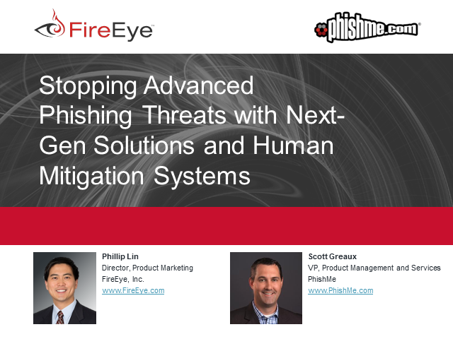 Stopping Advanced Phishing Threats with Next-Gen Solutions and Human Mitigation