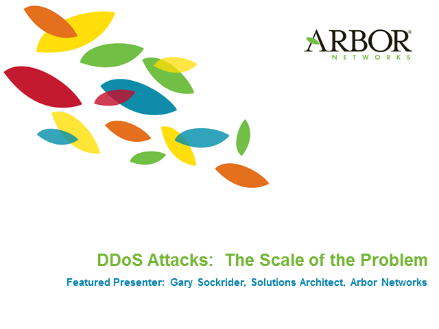 DDoS Attacks:  The Scale of the Problem