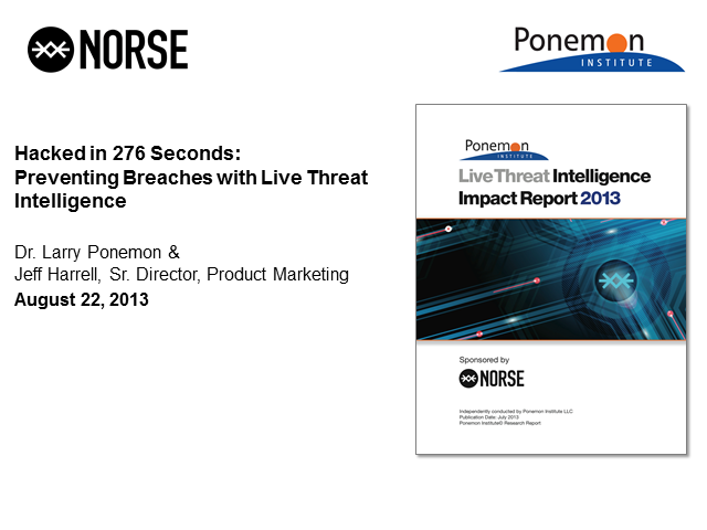 Hacked in 276 Seconds: Preventing Breaches with Live Threat Intelligence