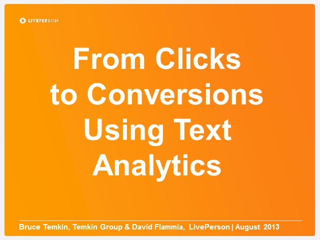 From Clicks to Conversions Using Text Analytics