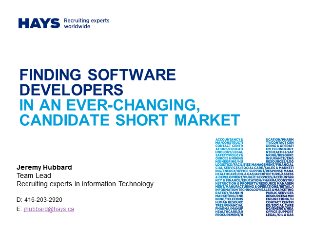 Finding Software Developers in an Ever-Changing Candidate Short Market