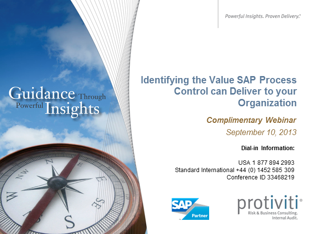 Identifying the Value SAP Process Control can Deliver to your Organization