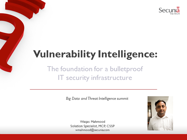Vulnerability Intelligence: Bulletproof Your IT Security Infrastucture