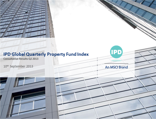 IPD Global Quarterly Property Fund Index – Q2 2013 results