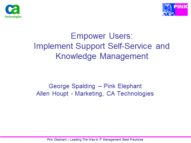 Empower Users: Implement Support Self-Service and Knowledge Management