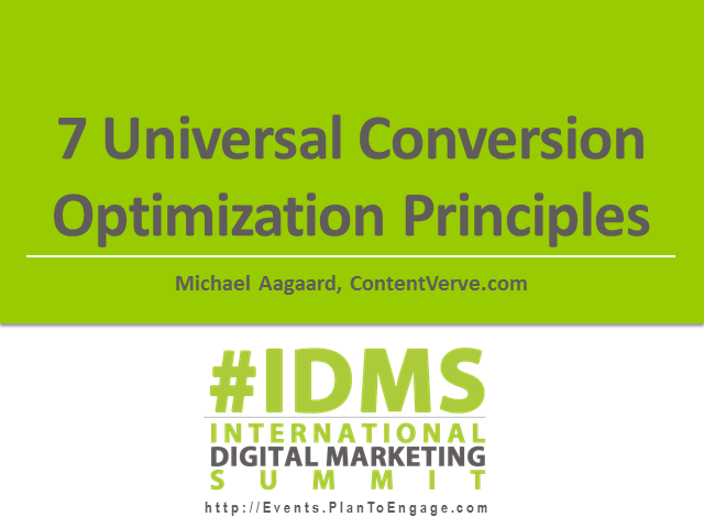 7 Universal Conversion Optimization Principles