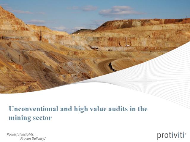 Unconventional and high value audits webinar