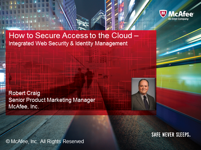 How to Secure Access to the Cloud