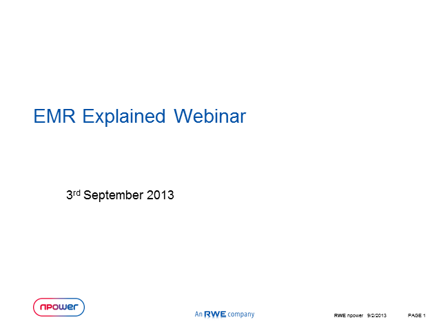 EMR explained and what you can do about it as an Energy Consultancy