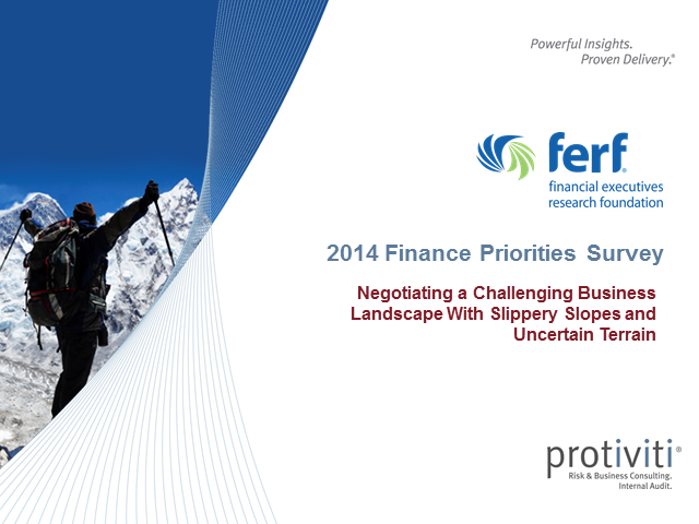 2014 Finance Priorities Survey Results