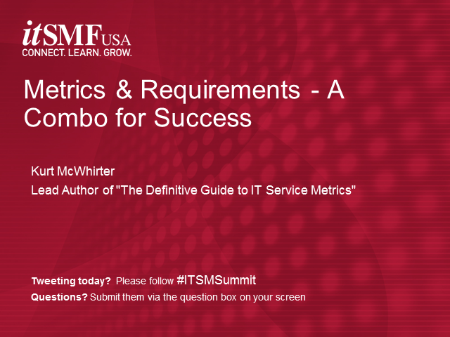 Metrics & Requirements - A Combo for Success