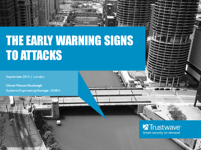 The early warning signs to attacks