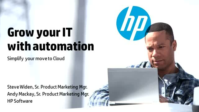 Grow your IT with Automation and simplify your move to Cloud