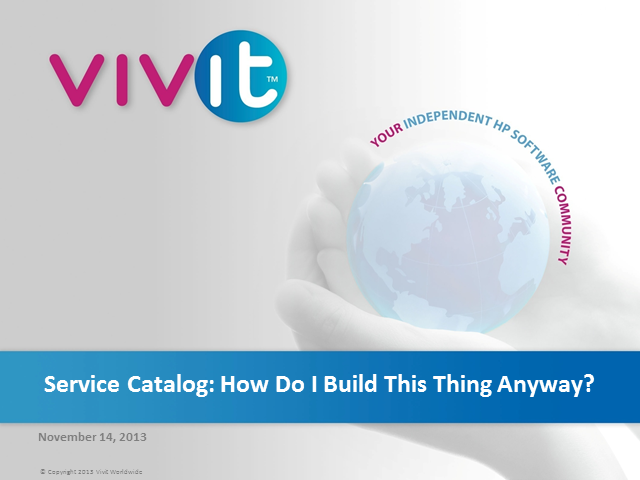 Service Catalog: How Do I Build This Thing Anyway?