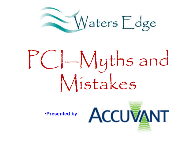 PCI--Myths and Mistakes