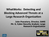SANS WhatWorks in Detecting and Blocking Advanced Threats