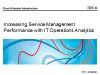 Increasing Service Management Performance with IT Operations Analytics