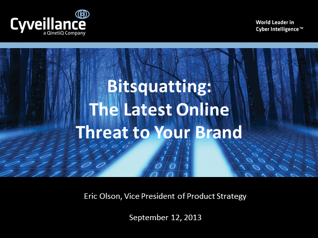 Bitsquatting: The Latest Online Threat to Your Brand