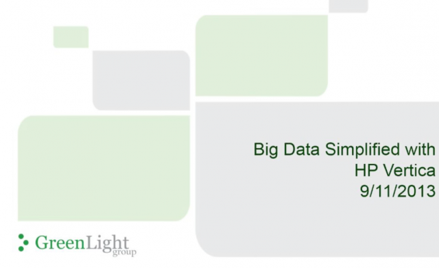 Big Data Simplified with HP Vertica