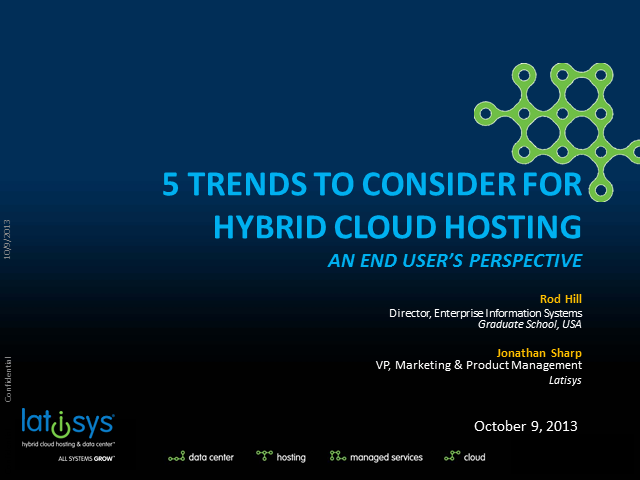 5 Trends to Consider for Hybrid Cloud Hosting: An End User's Perspective