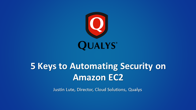 5 Keys to Automating Security on Amazon EC2