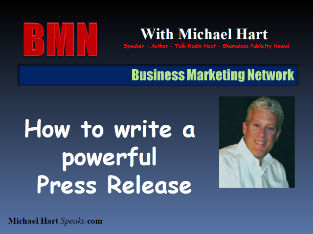 How to write a powerful press release