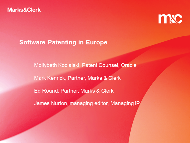 Software Patenting in Europe