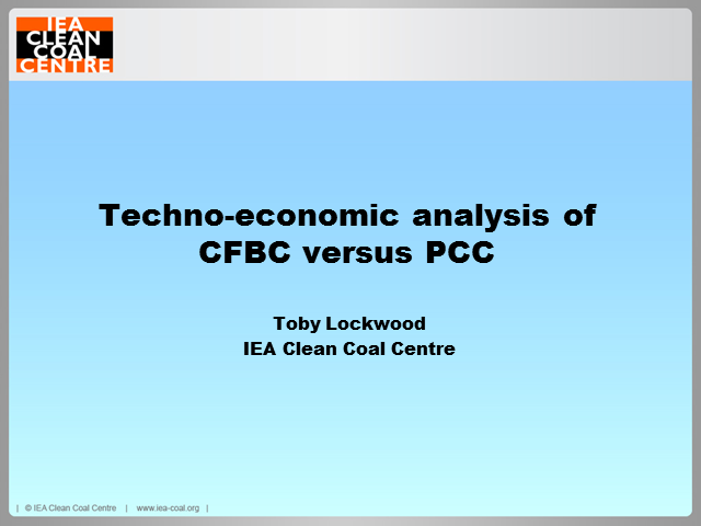 Techno-economic analysis of PC versus CFB combustion technology